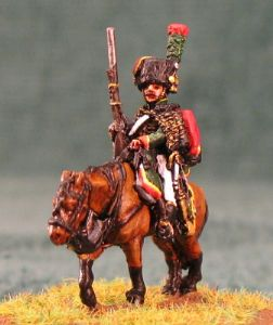 15mm, Napoleonic Chasseur a Cheval of the Guard AB Figure